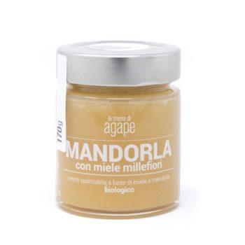 Crema di Mandorle con Miele Millefiori Biologica 170g