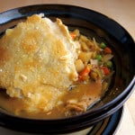 a bowl of chicken pot pie