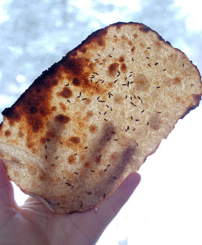 a Rye Sourdough Crispbread