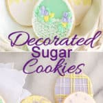 Decorated Sugar Cookie pin with text overlay