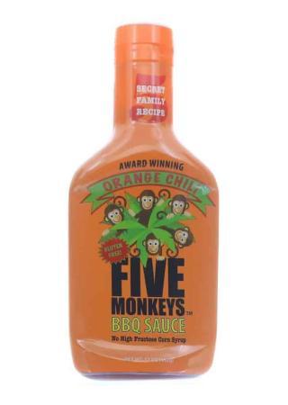 S261 - Five Monkeys 'Orange Chili' BBQ Sauce - 482g (17 oz)01