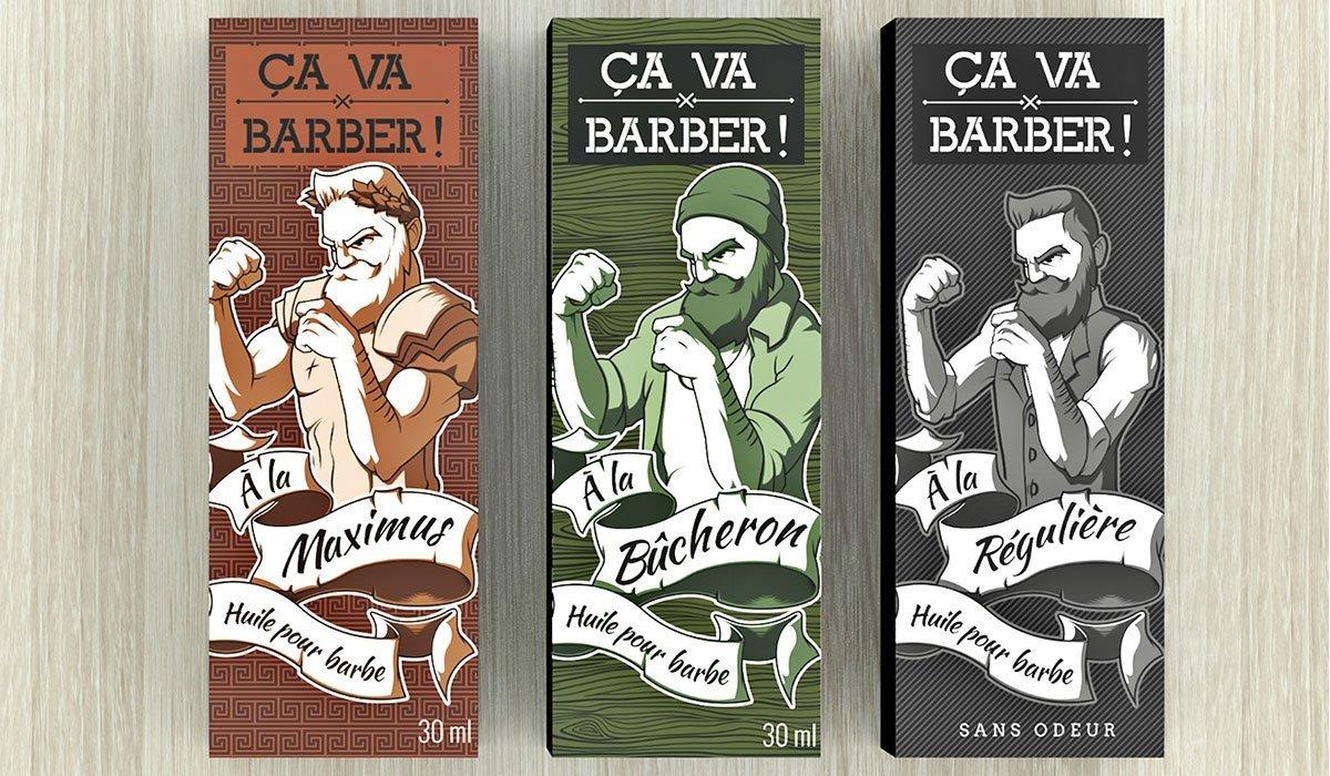 huile de barbe ca va barber graphique