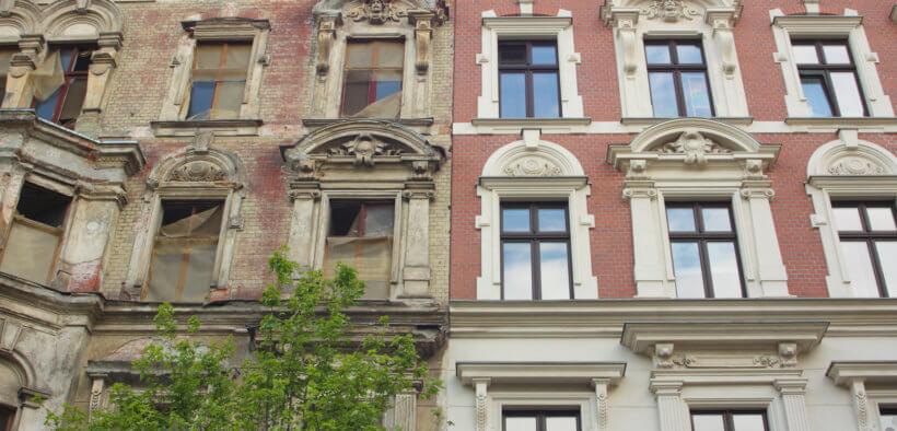 Durch die Gentrifizierung von Stadtteilen kommt es zu Modernisierung und Renovierung von Stadtteilen