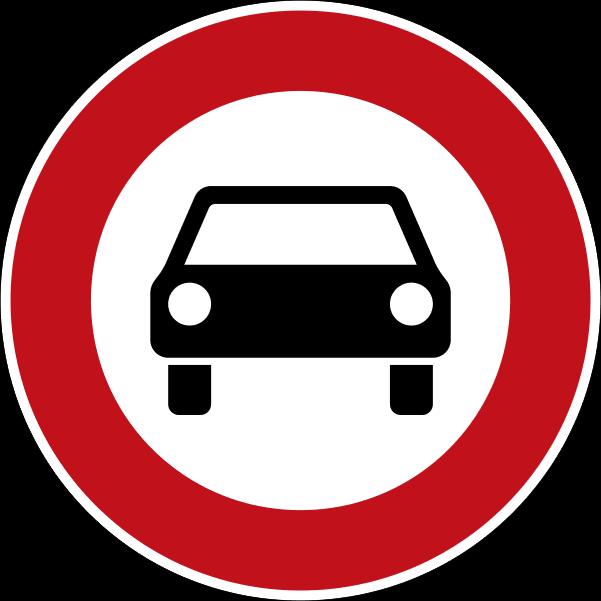 Fahrverbot, Verkehrszeichen 251