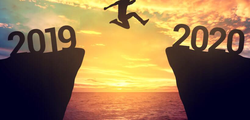 Unternehmer springt von 2019 ins das Jahr 2020
