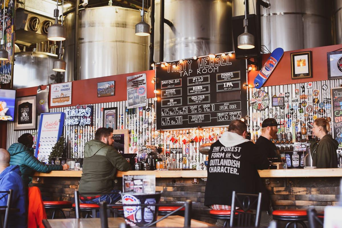 Oskar Blues Brewery's Tasty Weasel taproom in Longmont, Colorado (circa 2018)