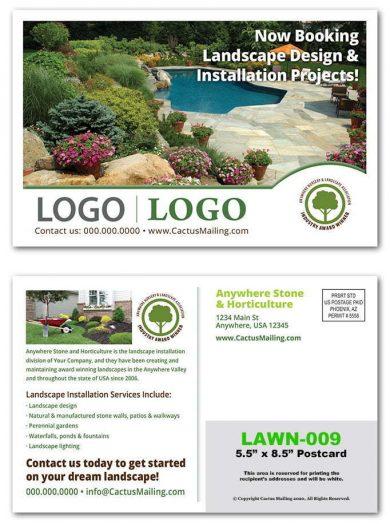 landscaping postcards
