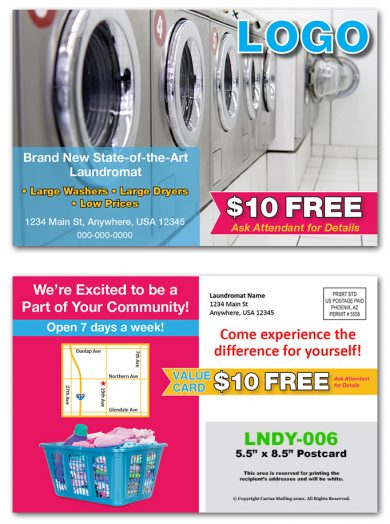 Laundry Postcards