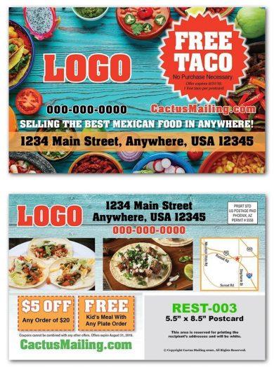 Mexican Restaurant Postcards