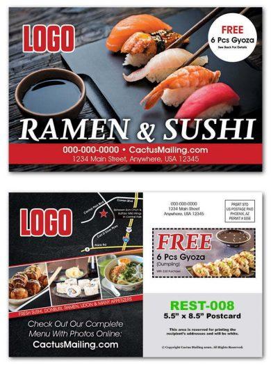 Sushi Restaurant Postcards