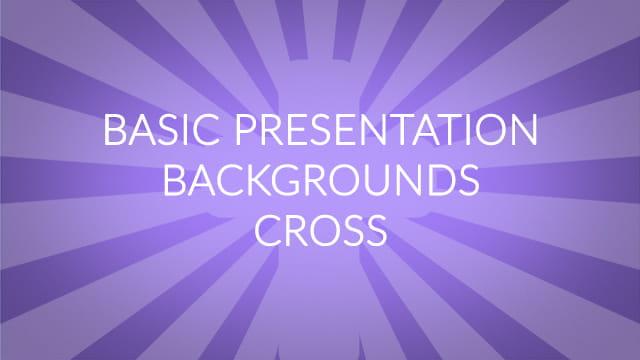 Basic Presentation Backgrounds – Cross