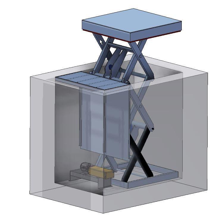 Table élévatrice CEFAM ATLAS en Inox pour la Criée du Port de La Rochelle
