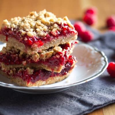 Stay Crumble and Kind: Raspberry-Rhubarb Crumble Bars