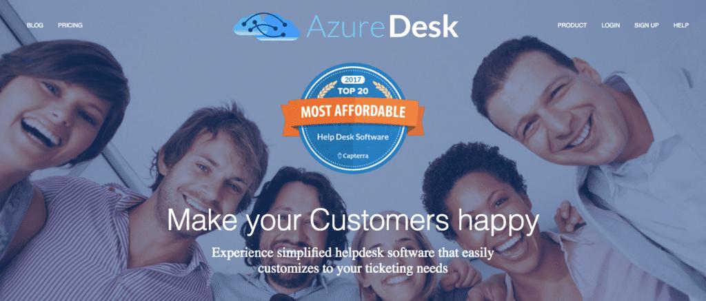 azuredesk affordable help desk software