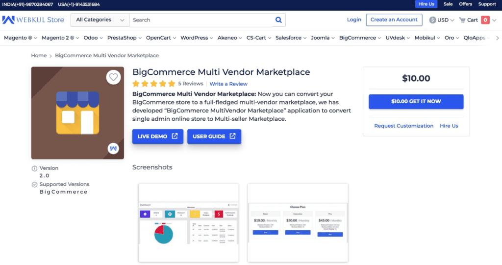 Bigcommerce multi vendor solution