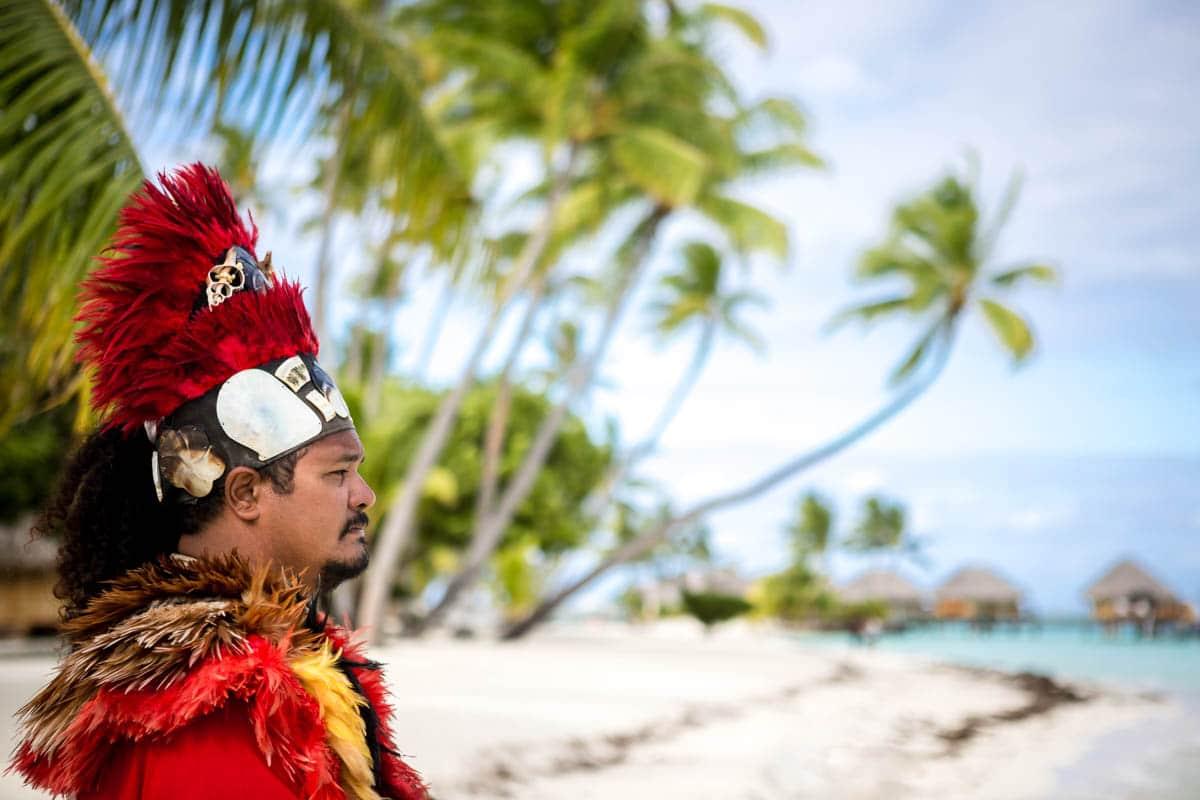 Polynesian wedding ceremony priest