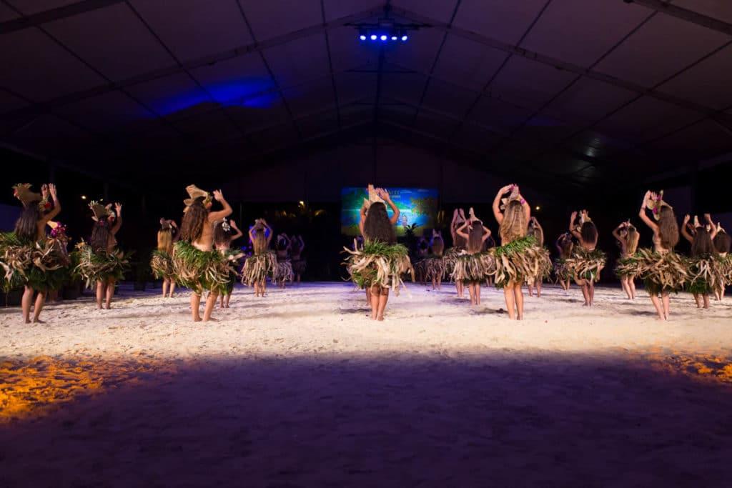 Dancers in Heiva Festival in Bora Bora