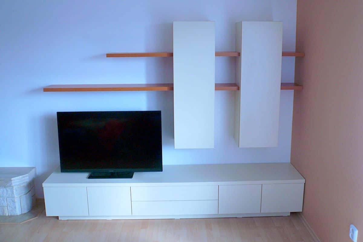 Obývací stěny s televizí, designové police 7