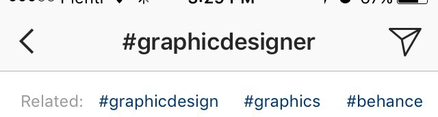 Screenshot of hashtags in Instagram to show how to find popular hashtags.