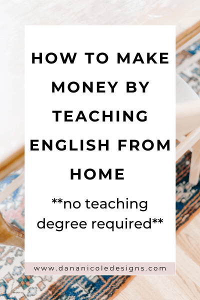 image with text overlay: how to make money by teaching English from home