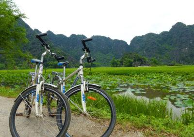 Radtour in der Trockenen Halong-Bucht
