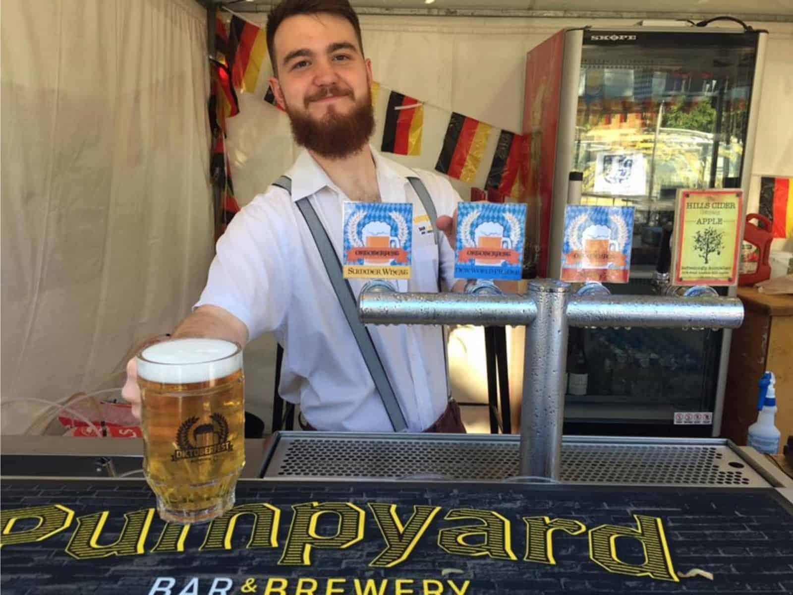 Ipswich Oktoberfest 2017 at the 4 Hearts Brewing Pumpyard Bar and Brewery