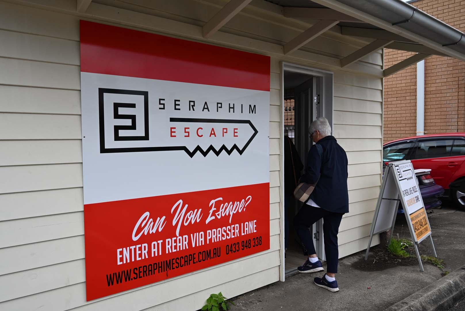 Seraphim Escape sign