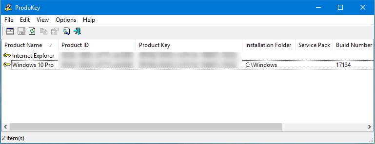 saber la clave de windows 10 con produkey