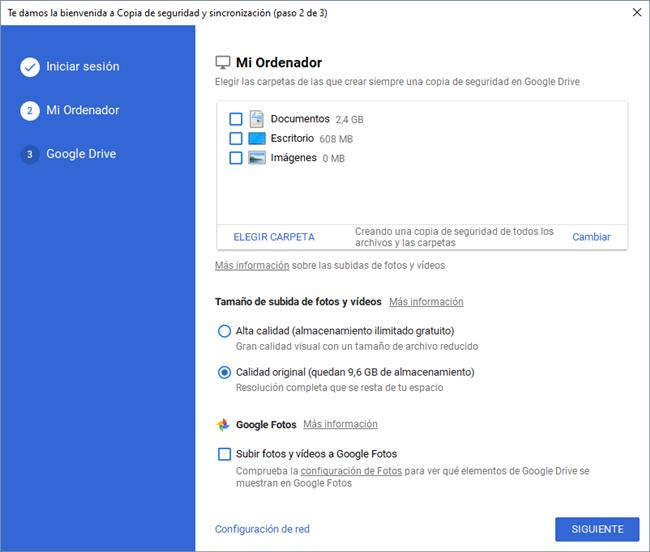 Sincronizar carpetas del ordenador con Google Drive