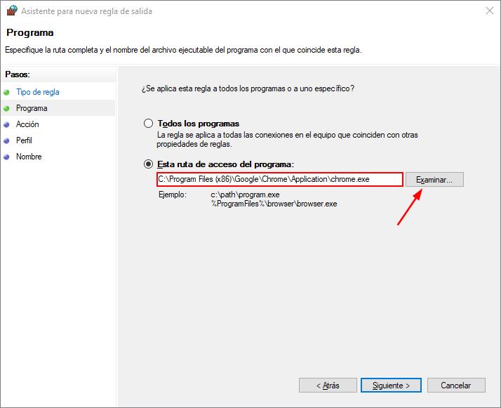 Agregar un programa al Firewall de Windows