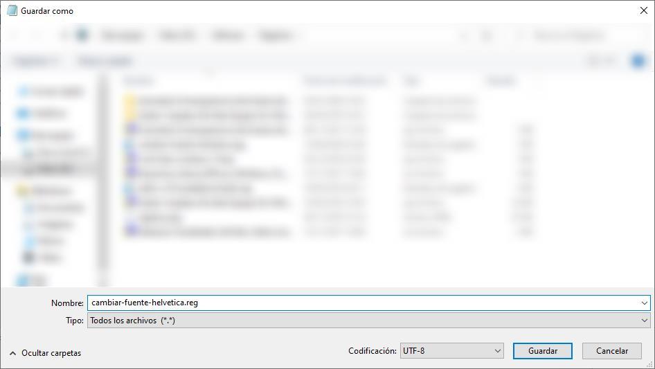 cambiar fuente windows 10