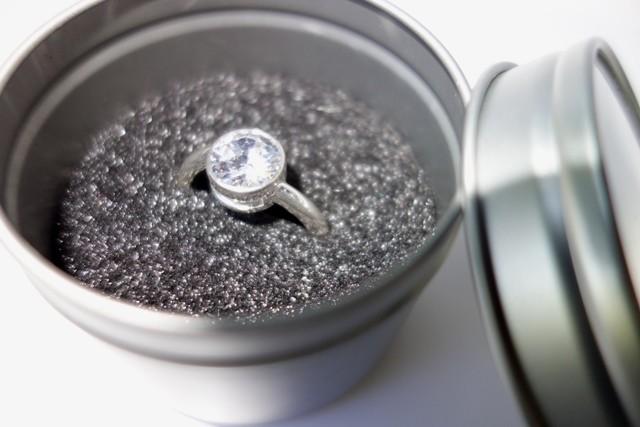 Einlage für Ringe in Metalldosen