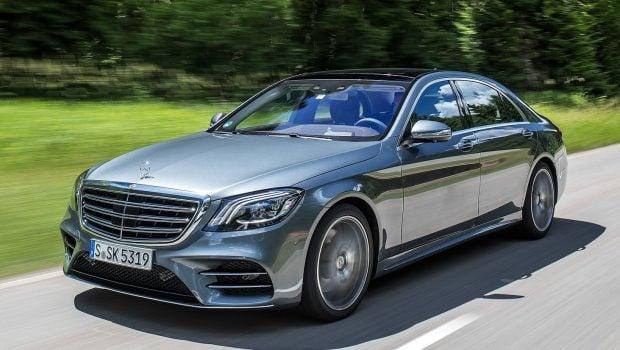Mercedes S-Class W222 driving