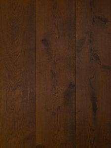 Deze antiek bruine houten vloer is van hoge kwaliteit Europees eikenhout