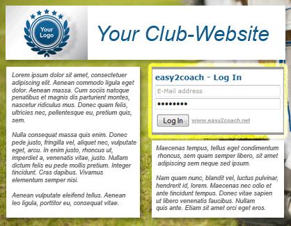 Login Widget for your club website