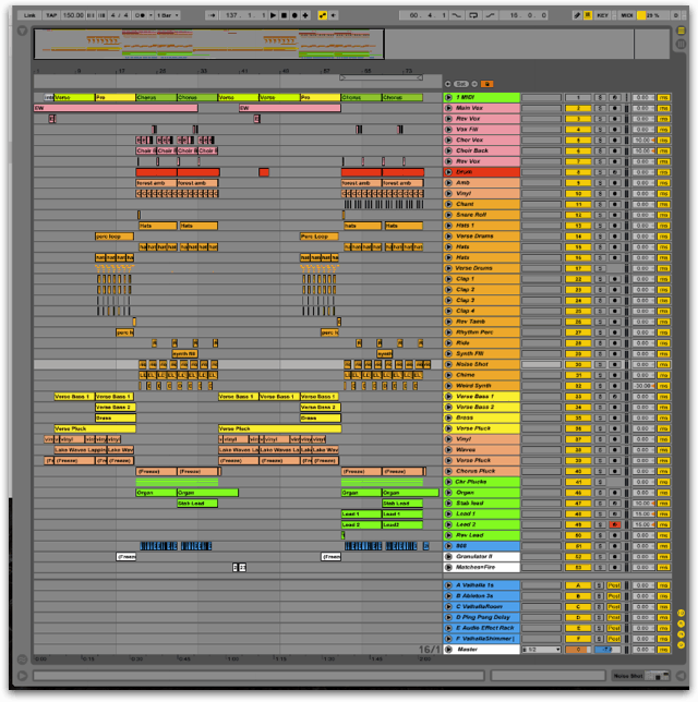 Colouring and Labelling The Mixdown in Ableton Live
