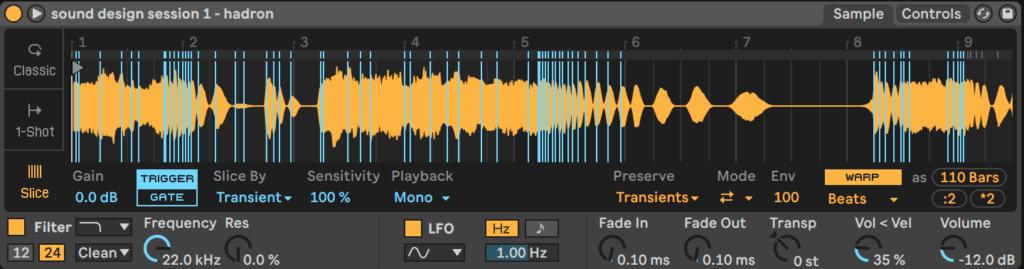 Ableton Live Simpler Chop