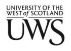 University Of the West of Scotland  - UWS logo