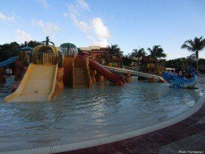 Kids water playground at grand bahia principe coba