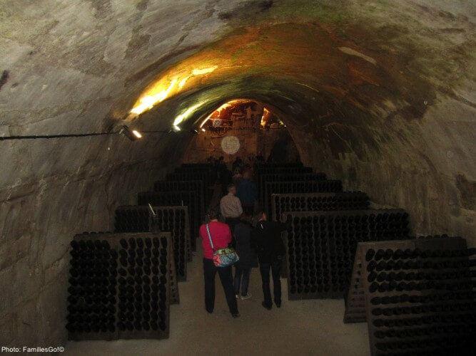 The gh martell caves in rheims