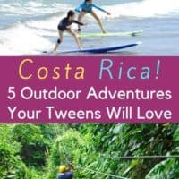 Costa rica is ideal for tweens who are beginning to want more adventure in their vacation. Here are 5 awesome outdoor things to do with them. #costarica #tweens #adventuretravel #inspiration #crfamilyholidays #kids #vacation