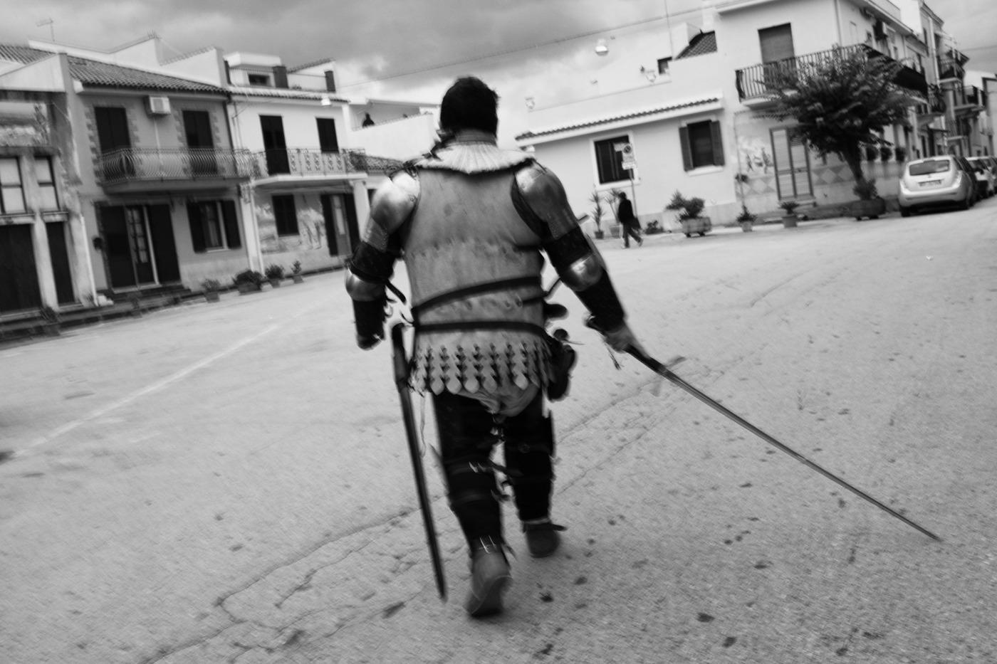 uomo d'arme in Brucoli - Giuseppe Torretta