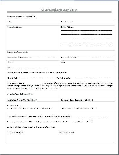 authorization form template free templates ach pdf