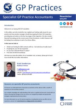 GP Spring 2015 sector newsletter