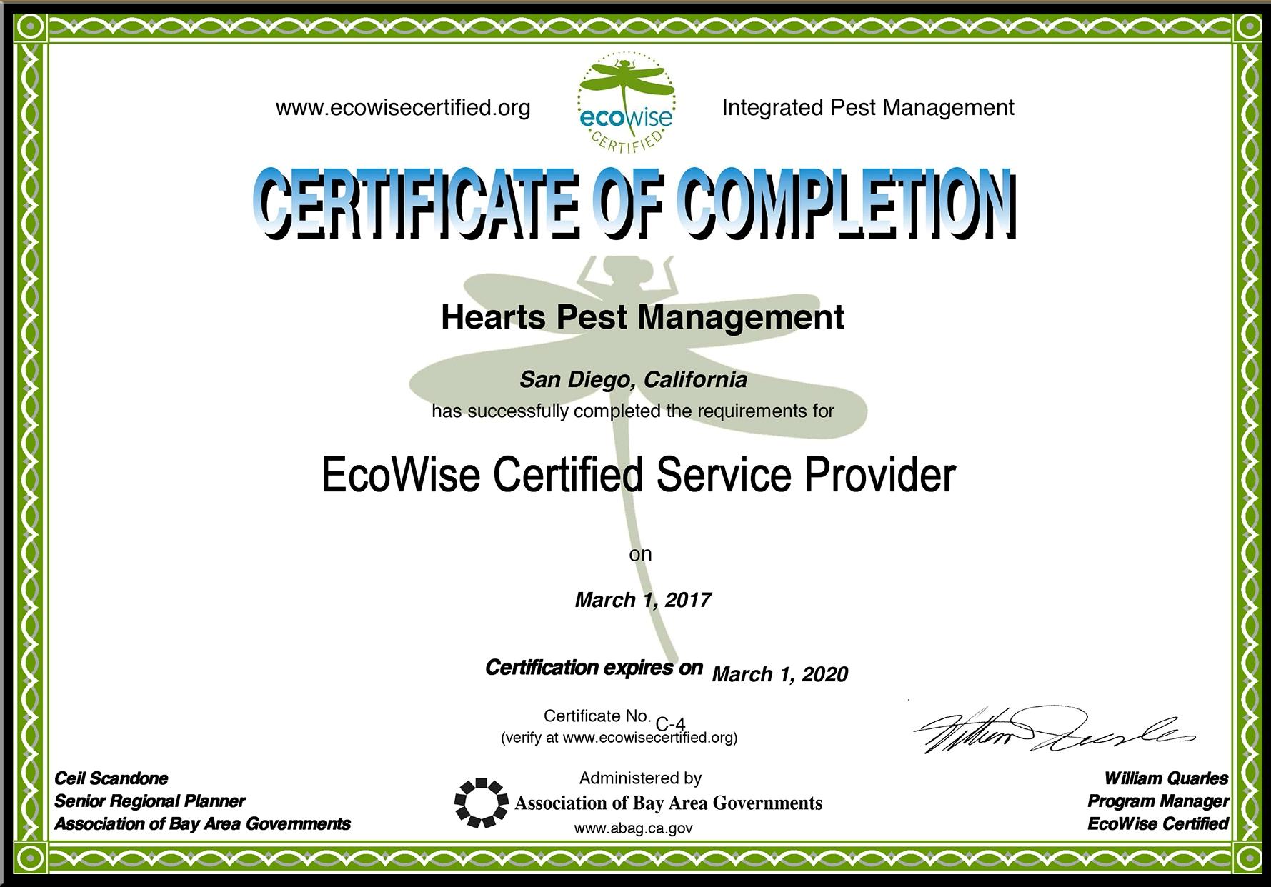 Hearts IPM certificate