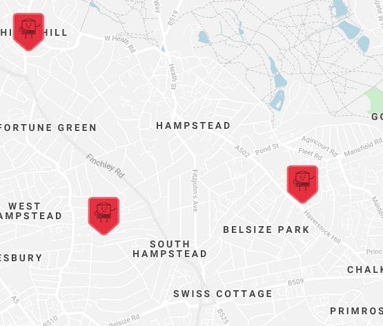 hamspstead-self-storage-location