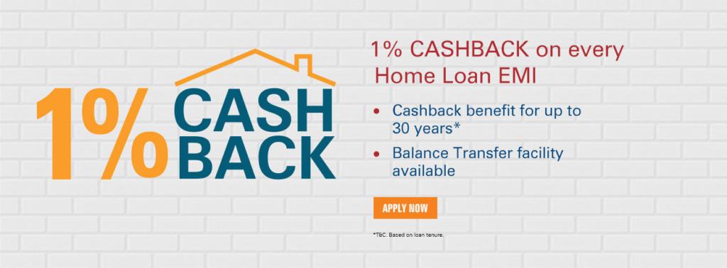 icici bank home loan cash back offer