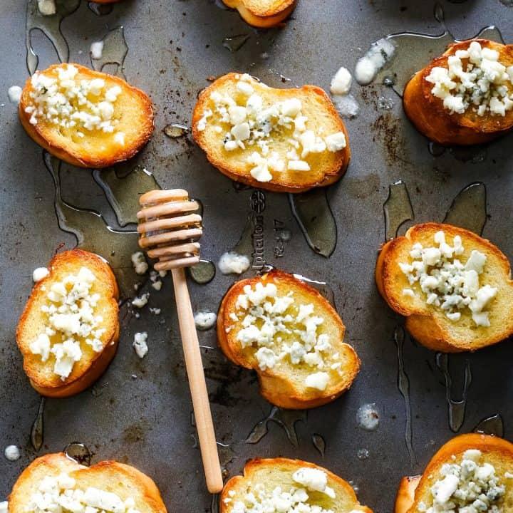 Blue Cheese Honey Crostini