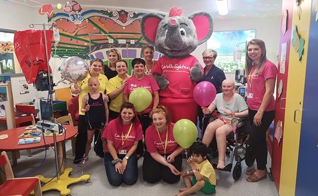 New elephant mascot 'Champ' helping raise spirits and funds for children's cancer charity