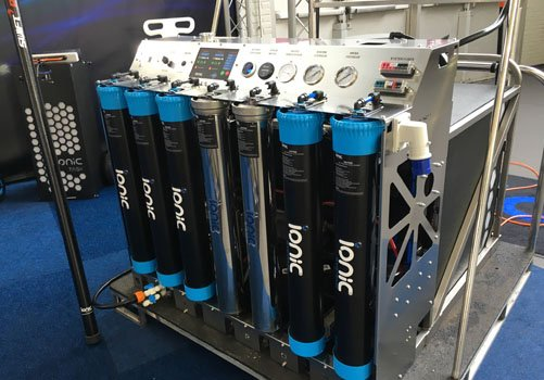 Ionic Systems vehicle mounted system on display at show